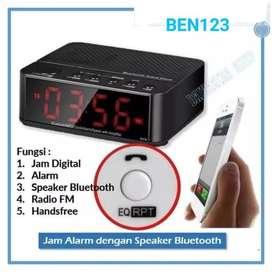 Desktop Bluetooth Speaker Alarm Clock - Hitam