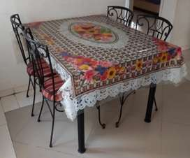 Dining Table 4 Seater 12mm Glass top