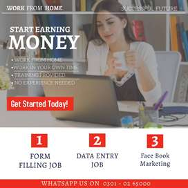 from simple data typing job from home for male & female