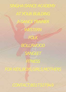 Western, Bollywood,sangeet,fitness for kids,boys,girls.mothers
