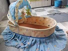 Keranjang Bayi Bonus Matras & Bantal Samping Box Tempat Tidur Bayi