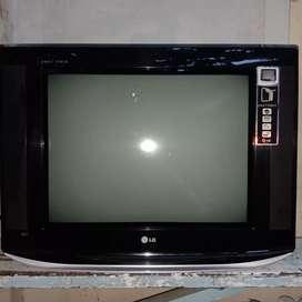 """TV TABUNG LG 21"""" PEARL BLACK SLIM+ANTENA DALAM"""