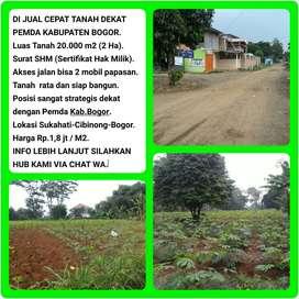 Dijual Cepat Tanah Strategis Dekat dengan Pemda Kab. Bogor, Luas 2 Ha