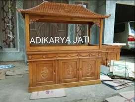 Meja aquarium ukiran kayu jati adikarya071.