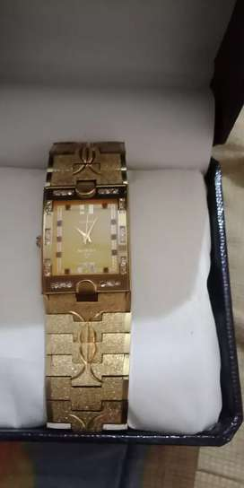 22 k  gold electro plated  watch  by fitron