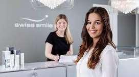 12th pass female receptionist