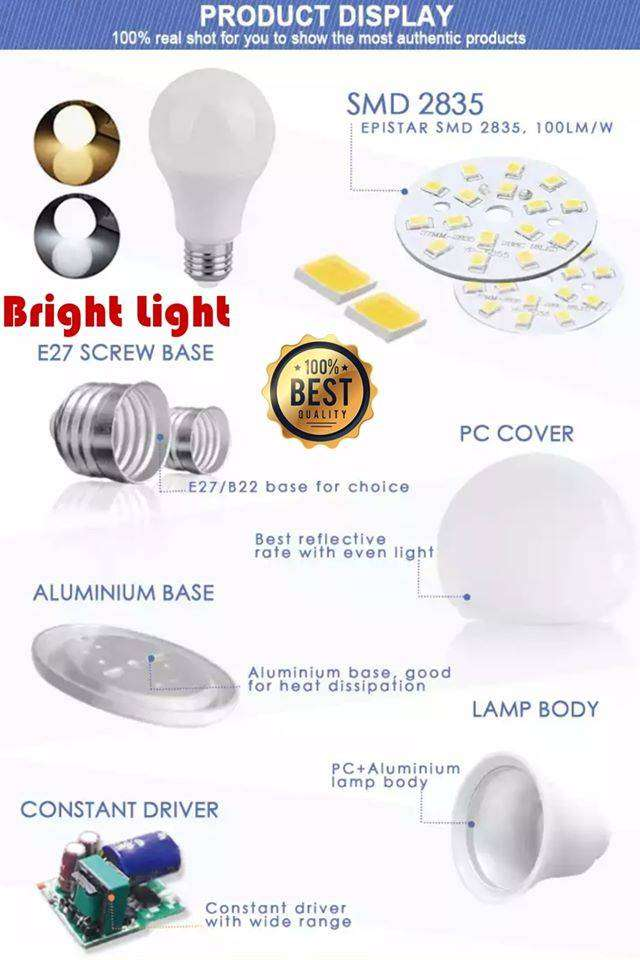 12W LED Bulb Material (SKD) available on wholesale price. Rs.88 only/- 0