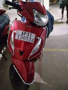 TVS JUPITER(2018 Model, Red Color) - 7800 KMS - First Owner
