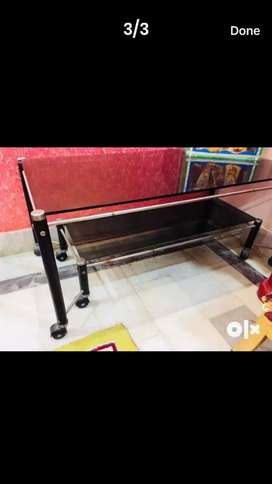 2 storied glass table