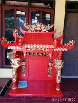 Meja sembayang china ukir material kayu jati ajf141