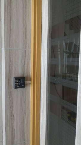 access doorlock dengan sidik jari solution A101 + magnetik lock
