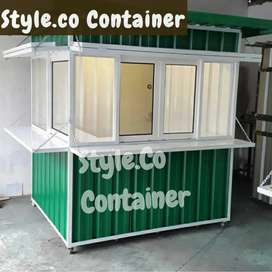 BOOTH SEMI CONTAINER | CONTAINER COFFEE SHOP | CONTAINER KEDAI KOPI
