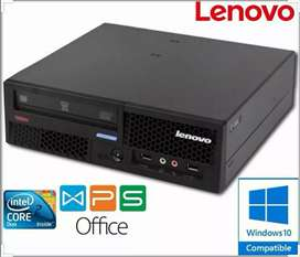 Lenovo Branded Faster Performance CPU With 1 YEAR WARRANTY