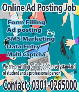Good Chance For ONLINE DATA ENTRY  job are available at Home Base
