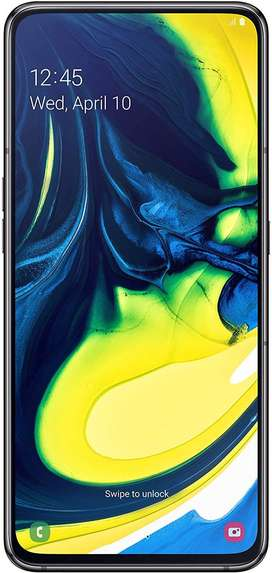 Samsung Galaxy A80 (Phantom Black, 8GB RAM, 128GB Storage)