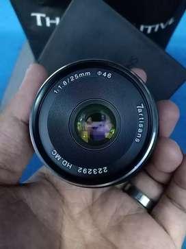 Lensa 7artisans 25 mm f1.8 Muluss For Sony
