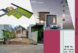 Rumah Dekat SMP Negeri 3 Salam Magelang Siap Bangun Desai Modern 3 - R
