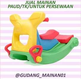 mainan playground anak kursi goyang dengan perosotan murah berkualitas