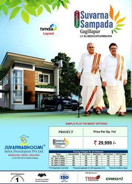 At Gagillapur HMDA Residential open plots for sale