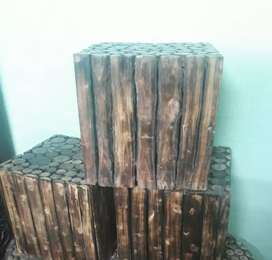 Brand new set of wooden stools