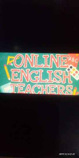 Online English language teacher available