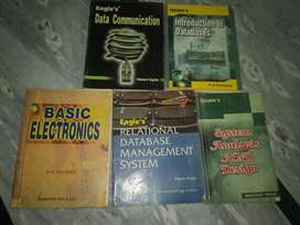 Data communication, Database, Basic Electronics and SDLC book set