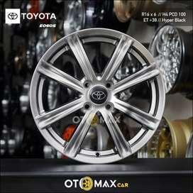 Velg Mobil Toyota E0605 Ring 16 Gunmetal