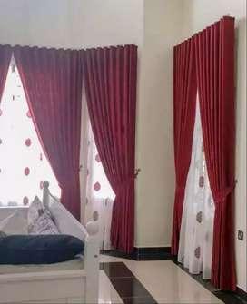 Gorden gordyn hordeng series-2607 desain interior untuk jendela ruamah