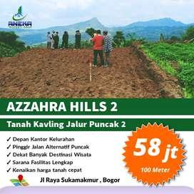 Jual Tanah kavling murah Bogor 100m² 58jt pinggir jalan