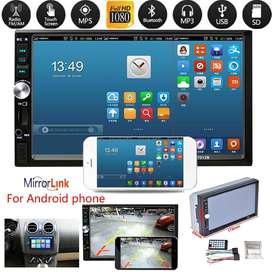 """hdmp5 tv mobil 2 din 7 """" mirror link android"""