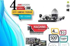 4 cameras package nightvision