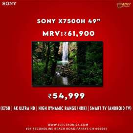 Sony X7500H (49 inches) 4K Ultra HD Certified Android LED TV