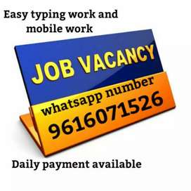 Work on your own mobile or laptop with daily payment