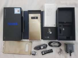 Note 8 Dual Sim-Original-Box and Accesories- 10 by 10 Note8 Samsung FD