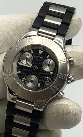 Cartier chronograph.Buy/sell rolex,omega,longines,tag heuer,hublot,IWC