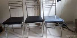 3 stainless steel chair 3000rps for all and per chair 1000rps
