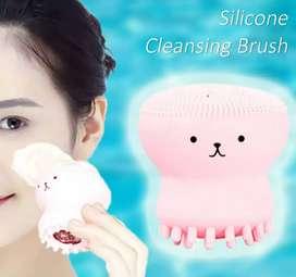 Brush Pembersih Wajah / Silicone Facial Cleaner Brush Model Gurita