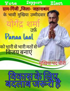 Any type of poster making ( specially political)