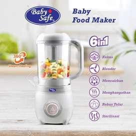 Baby Safe 6in1 Food Maker Processor / Babysafe Steamer Blender MPASI