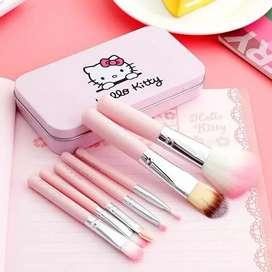 kuas kosmetik hello kitty pink 7 pcs