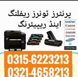 Toner refill , repair and sale of printers and photocopier .