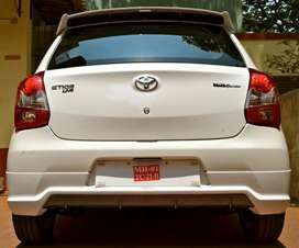 Etios liva back / rear bumper skirt skirting