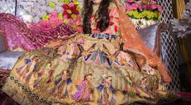 Mehndi Dress - Raw Silk Digital Printing