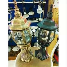 Lampu stand berdiri hias pagar taman klasik antik joglo lawasan