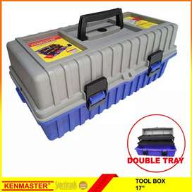 "Tool Box Kenmaster 17"" 2 susun"