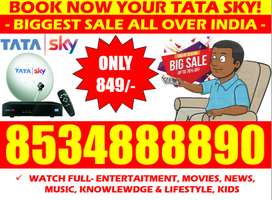 Book Now! Tata Sky DTH Airteltv Dishtv Tatasky Tv. (6 Month Free)