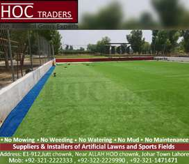 Artificial grass, astro turf grounds, football fields