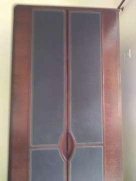 Wooden wardrobe.