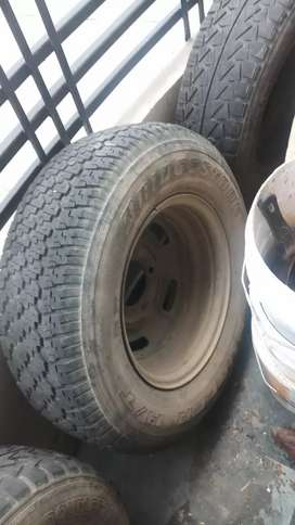 Two original tyres scorpio & two others