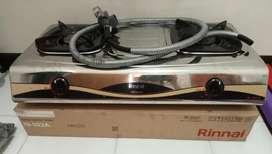 Kompor Rinai 2 Tungku & Regulator. RI 522 A